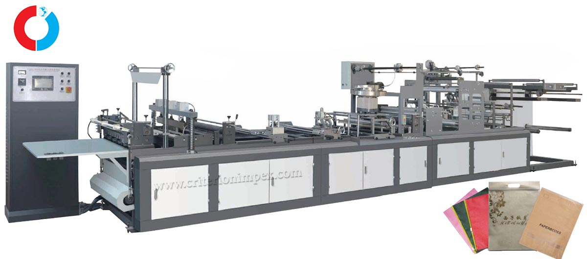 Automatic non-woven zipper bag making machine (automatic upper slider)