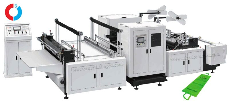 Hot handle integrated non-woven fabric cross-cutting machine